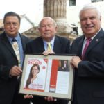 Dave, Ed Lindquist and the Mayor of Cuenca, Ecuador