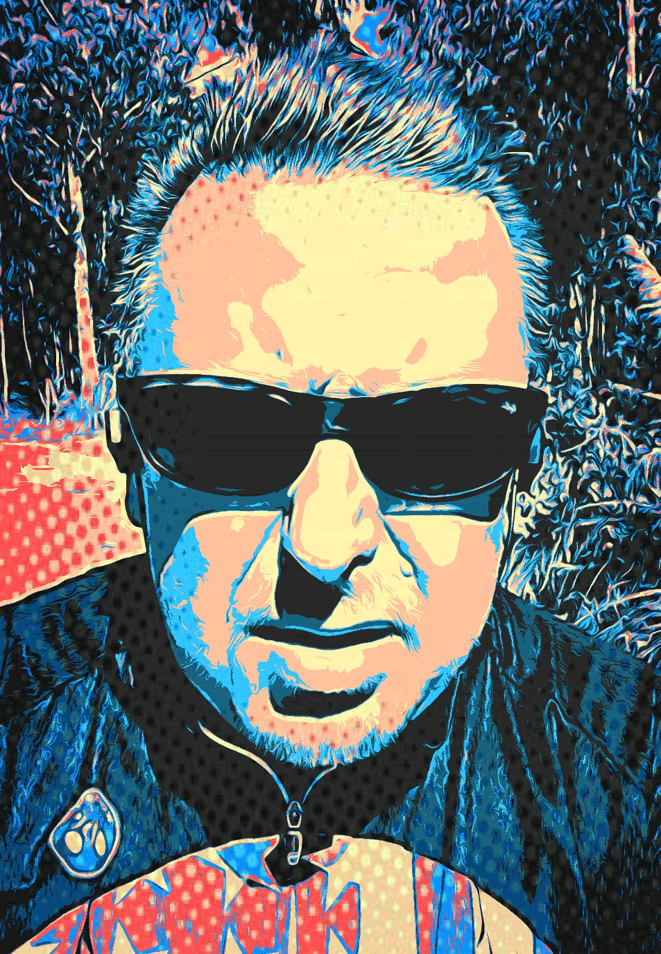 "Pop art version of Dave ""Big Daddy"" Johnson"